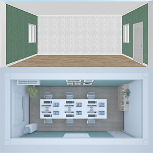 Decoration material for internal wall of container house