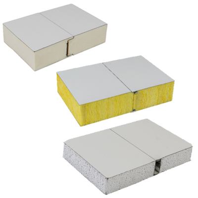 Various type of sandwich panels for wall