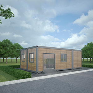 Wood grain container house