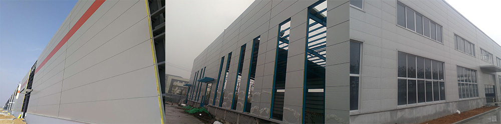 Insulated panels installation site