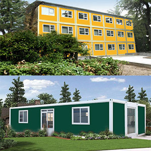 Different colors of container house