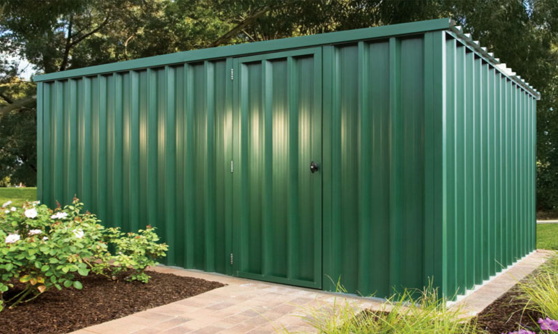 Metal cladding for steel sheds