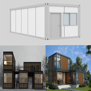 Free combined container houses