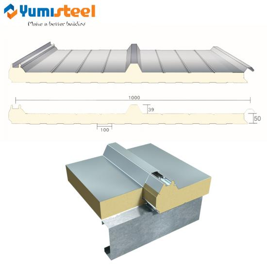 PU insulated roof sandwich panel