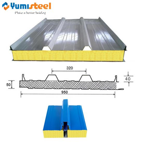 glass wool sandwich roof