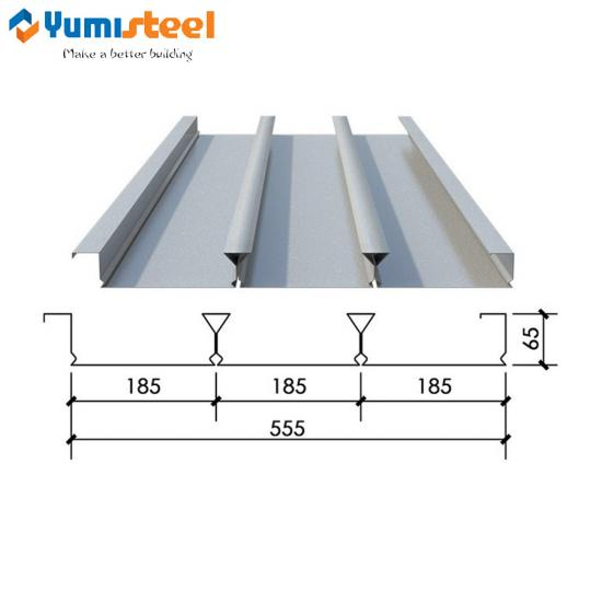 Modern building floor decking sheet