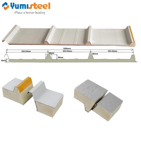 10mm PIR roof sandwich panels