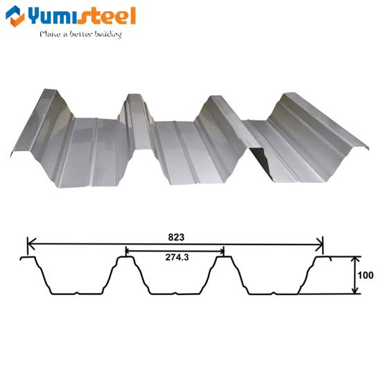 Trapezoidal aluminum metal roof panel