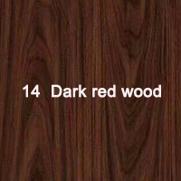 14  Dark red wood
